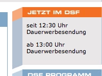 Screenshot: dsf.de