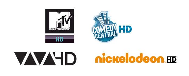 AW: MTV HD, Nickelodeon / Comedy Central HD und VIVA HD ab 16. Mai