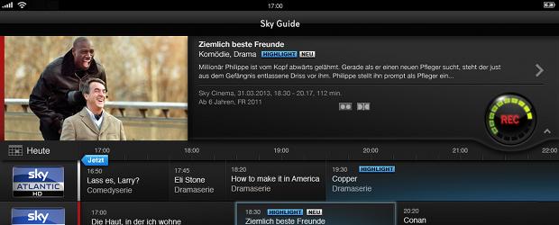 Sky Select Programmvorschau