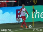 Virtuelle Bandenwerbung in der Bundesliga