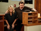 """Parks and Recreation"": Leslie Knope (Amy Poehler) und Ron Swanson (Nick Offerman)"