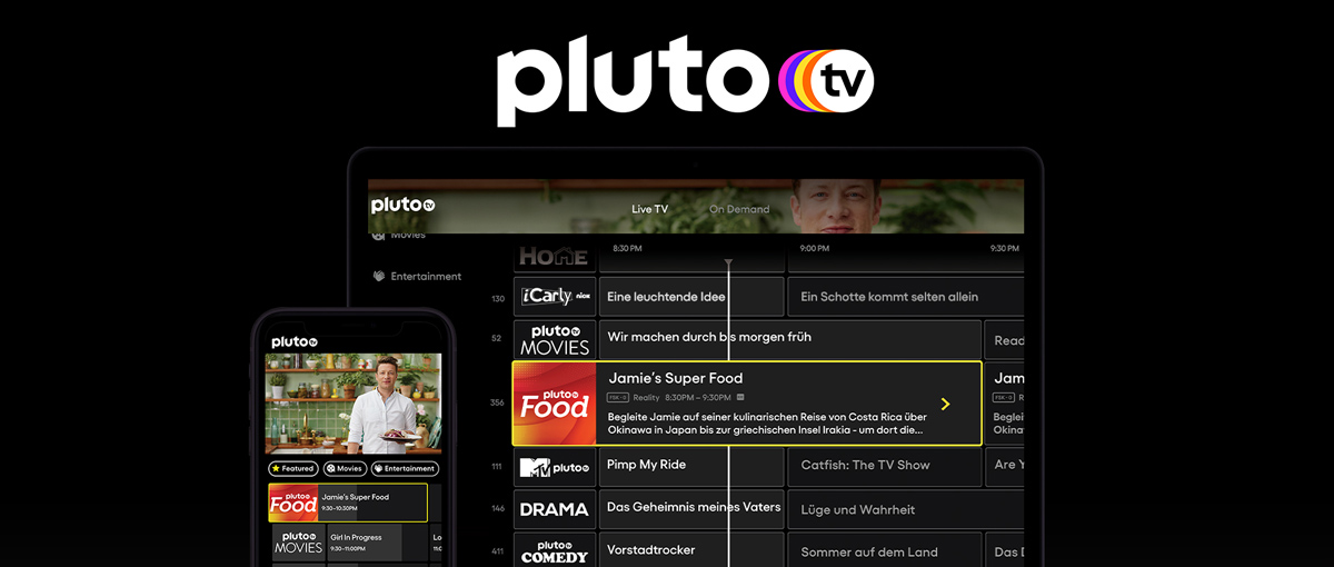 Pluto TV 2020 Browser