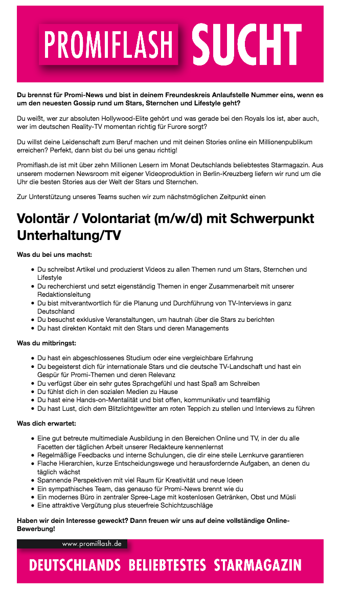 Volontariat in der Newsredaktion