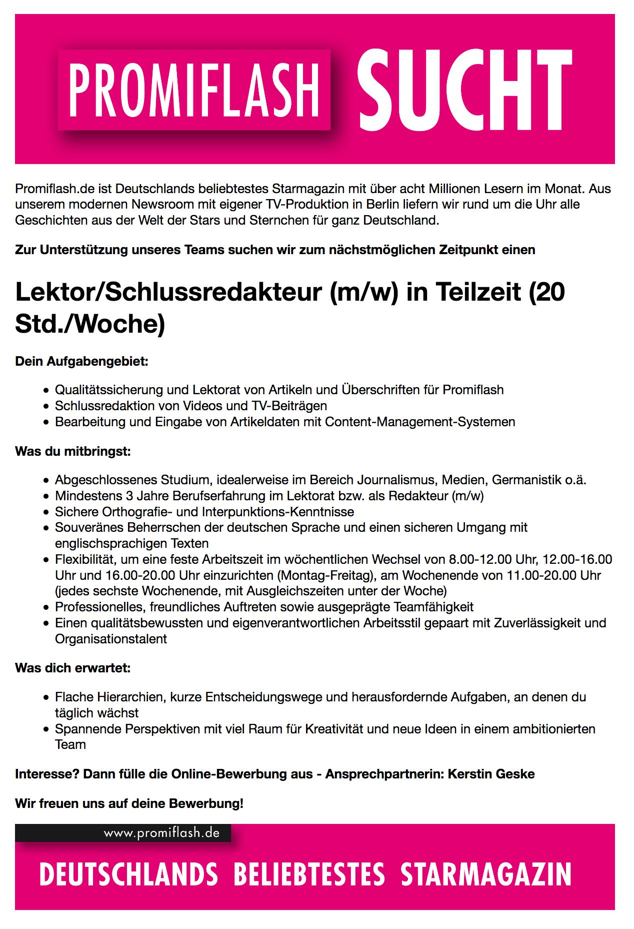 celebrity news ag berlin sucht lektor schlussredakteur in teilzeit m w jobb rse. Black Bedroom Furniture Sets. Home Design Ideas