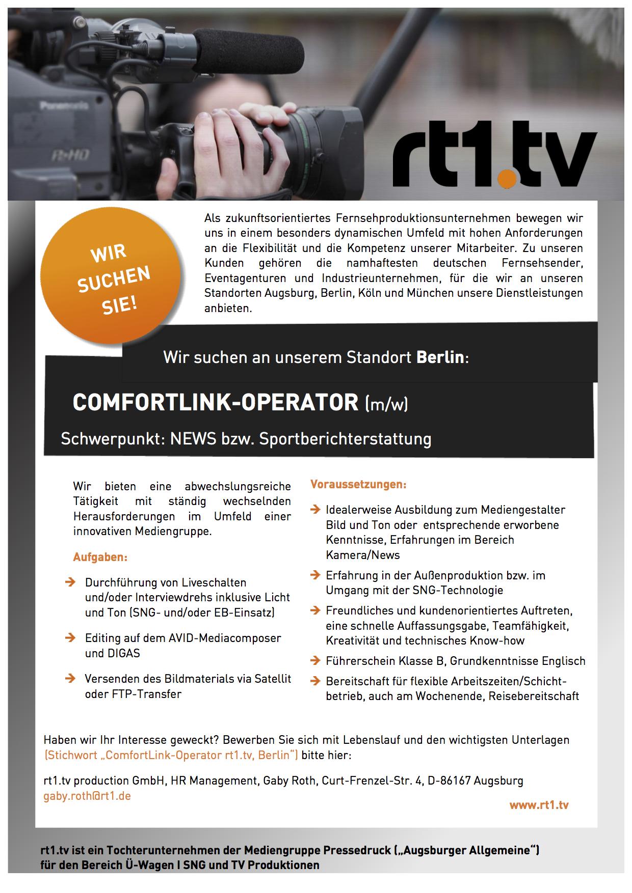 Comfortlink-Operator (m/w)