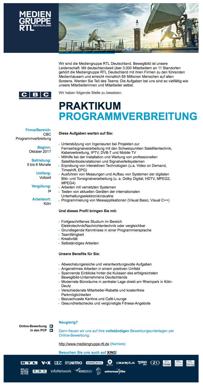 praktikum programmverbreitung cbc - Matthias Malmedie Lebenslauf