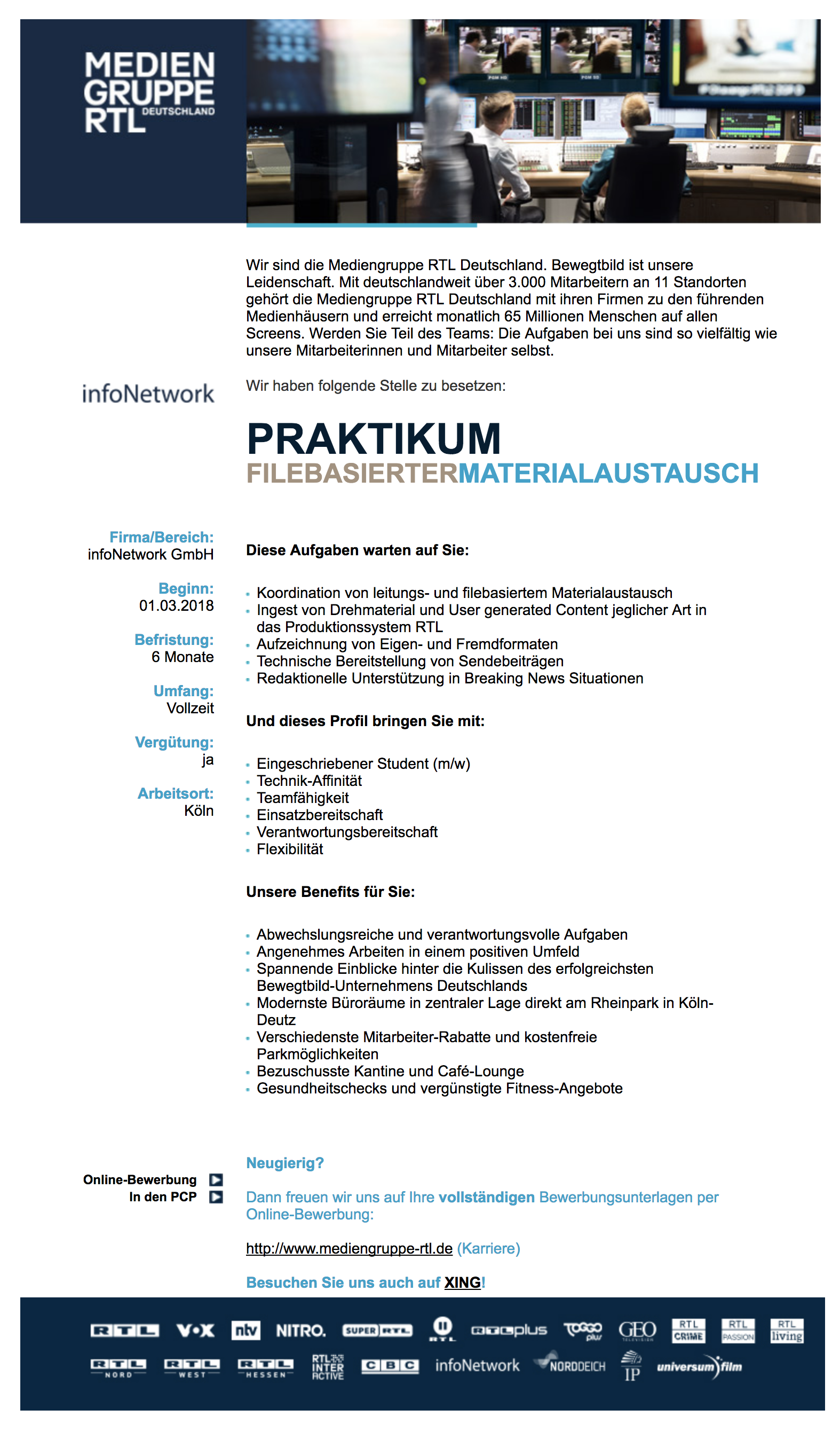 Praktikum filebasierter Materialaustausch (infoNetwork)