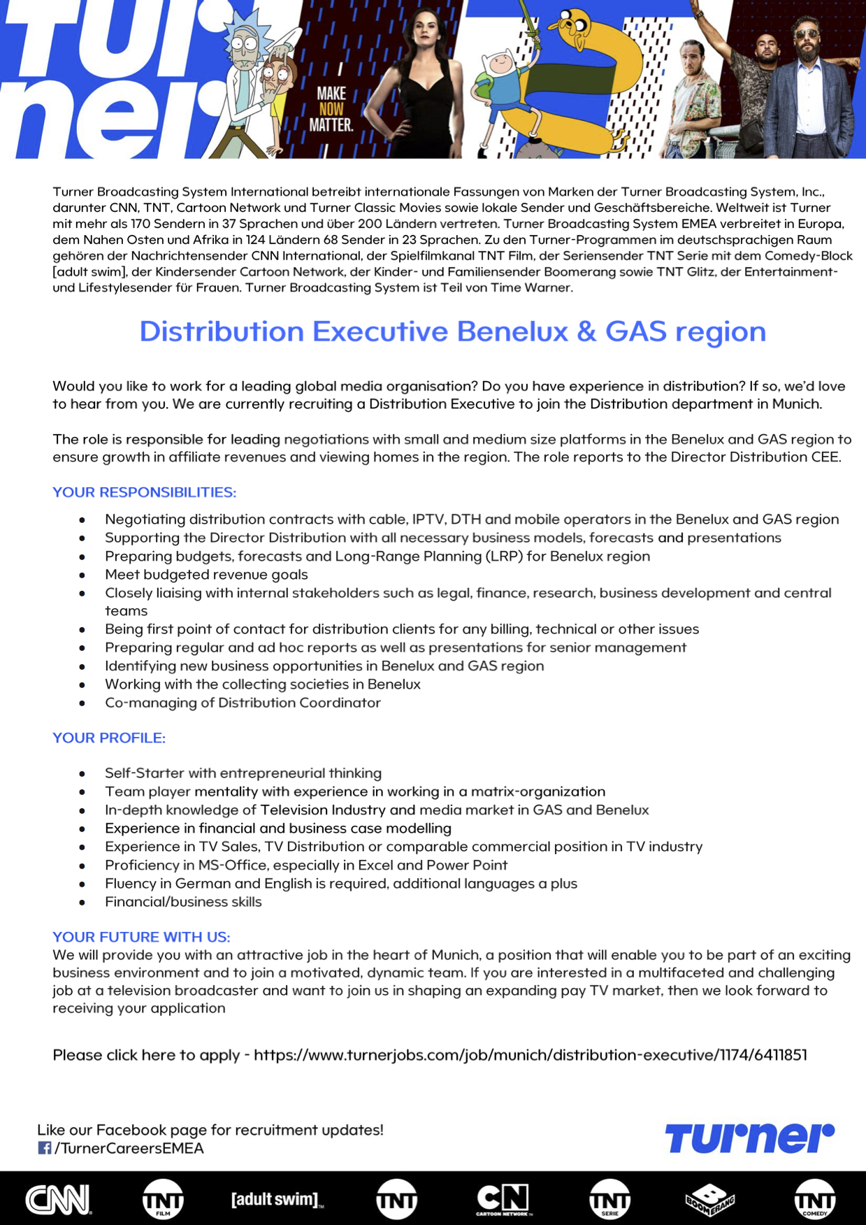 Distribution Executive Benelux & GAS region