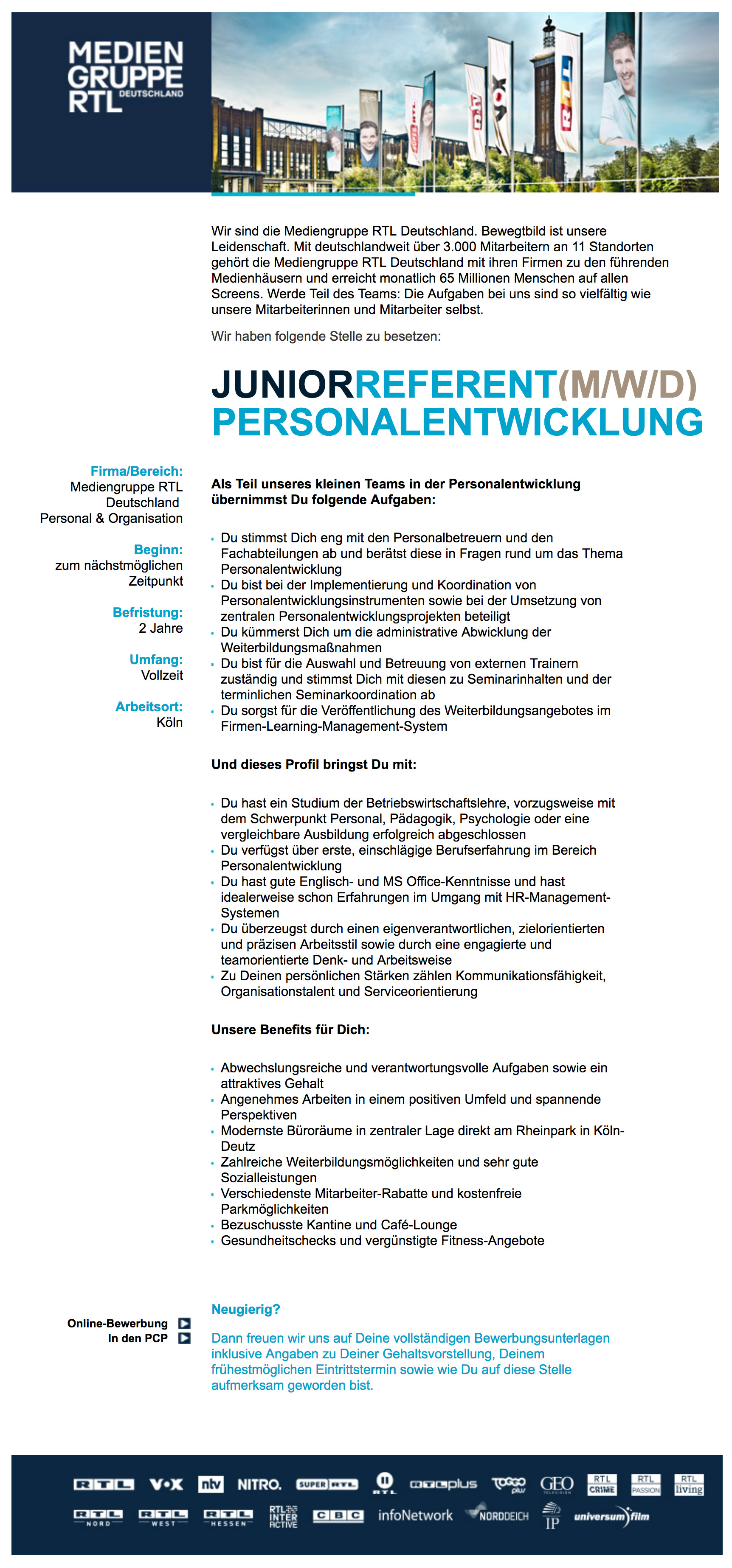 Junior Referent (m/w/d) Personalentwicklung