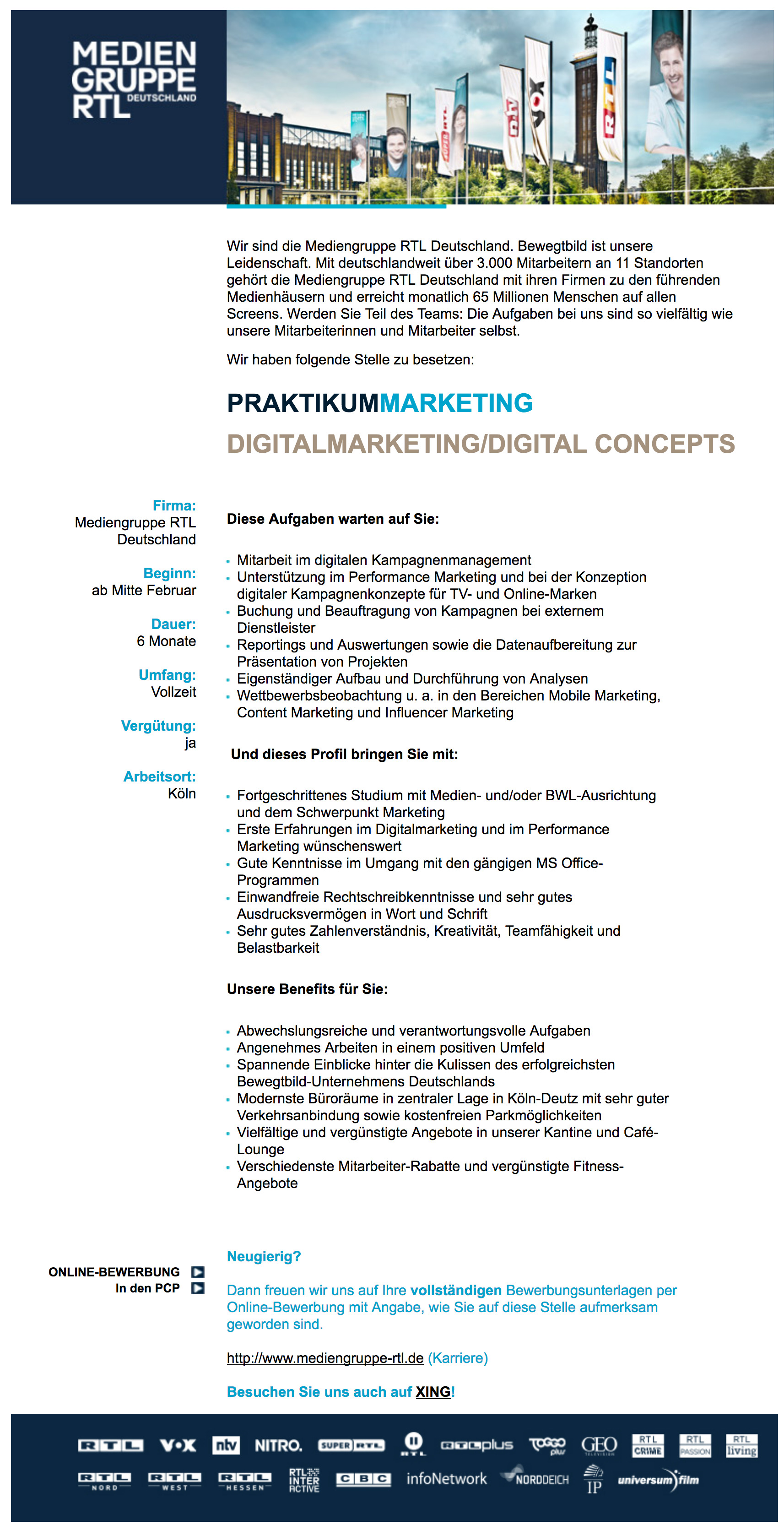 Praktikum Marketing Digitalmarketing / Digital Concepts