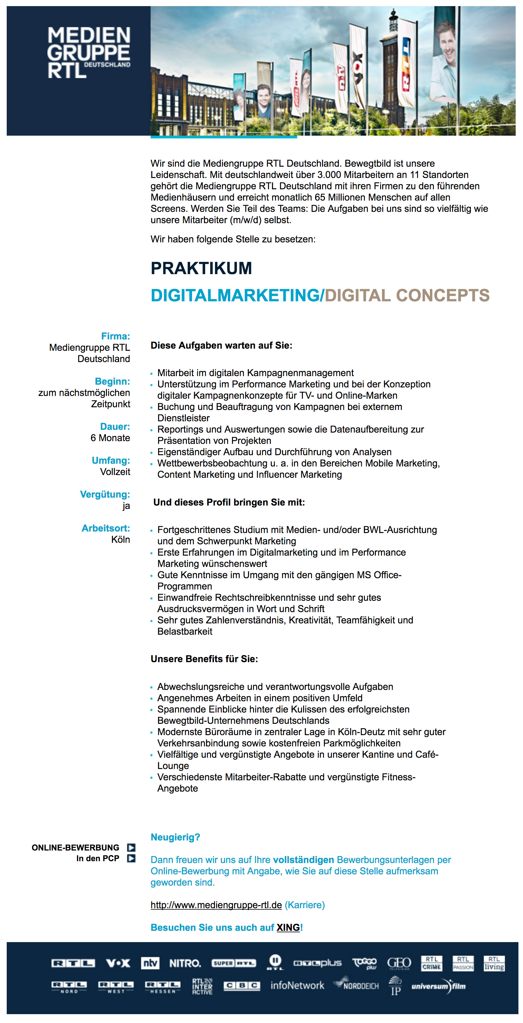 Praktikum Digitalmarketing / Digital Concepts
