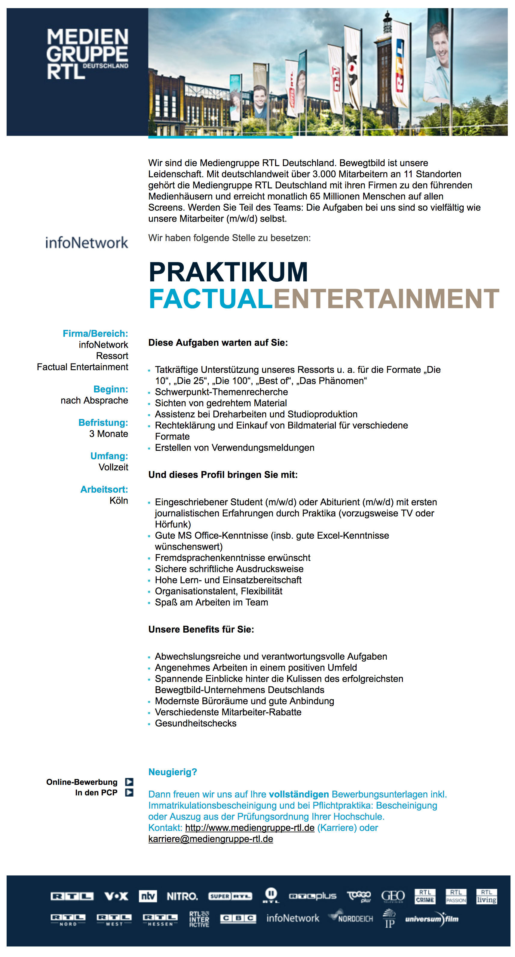 Praktikum Factual Entertainment (infoNetwork)