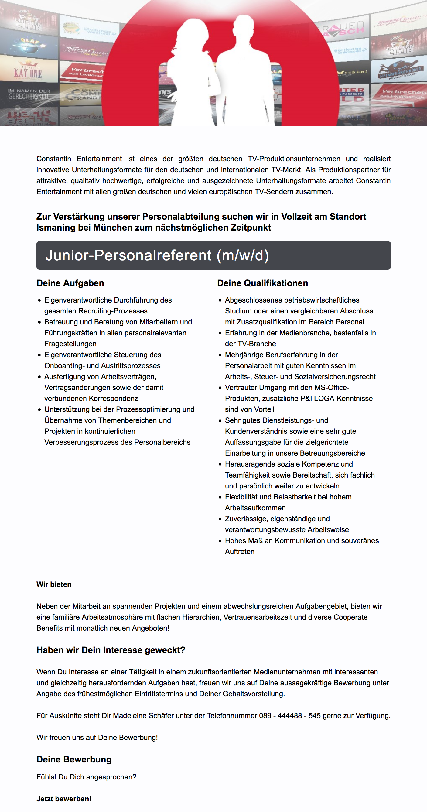 Junior-Personalreferent (m/w/d)