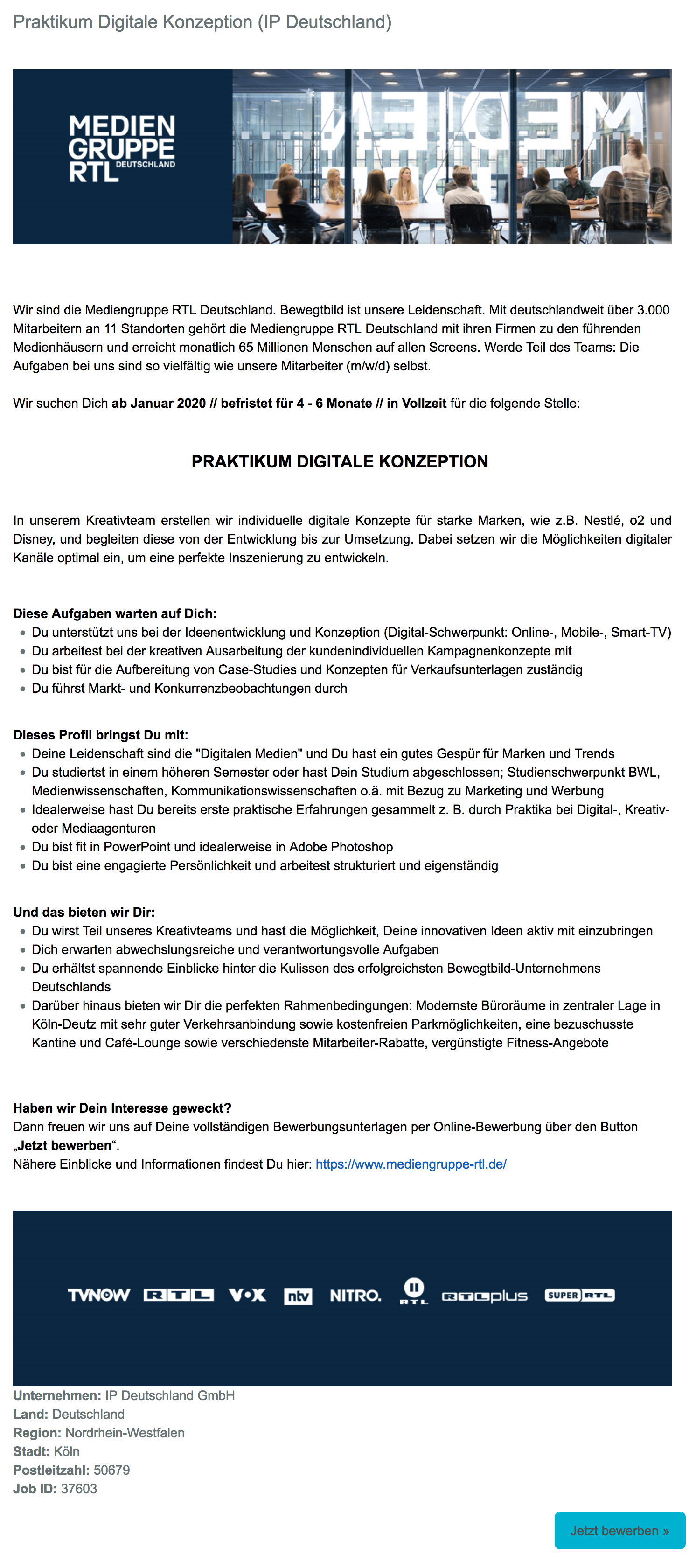 Praktikum Digitale Konzeption (IP Deutschland)