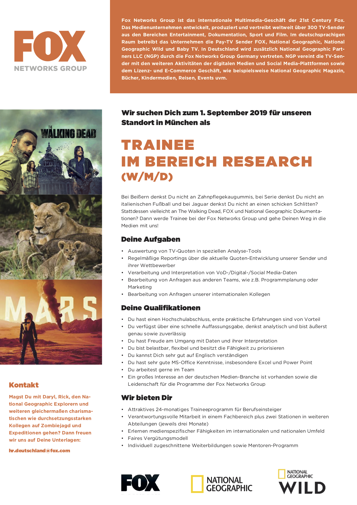 Trainee im Bereich Research (w/m/d)