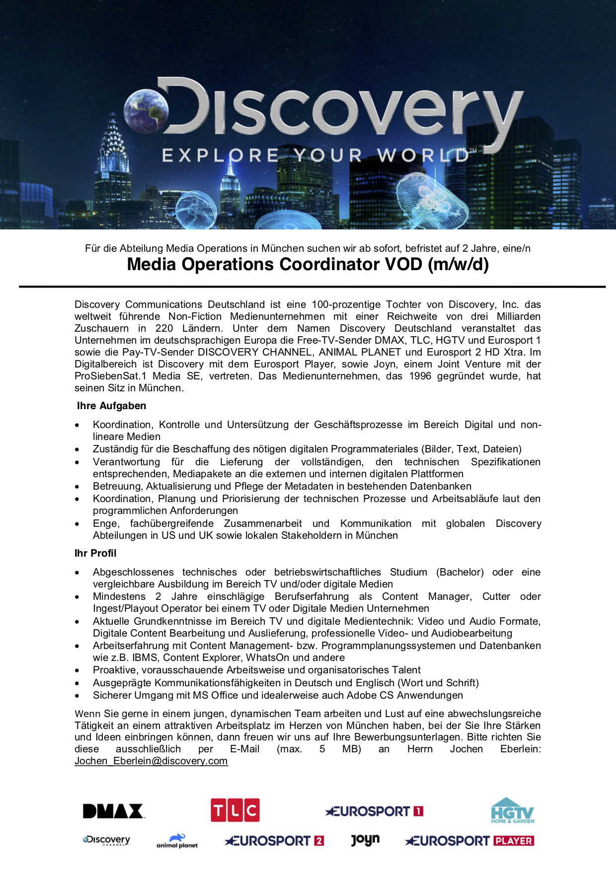 Media Operations Coordination VoD (m/w/d)