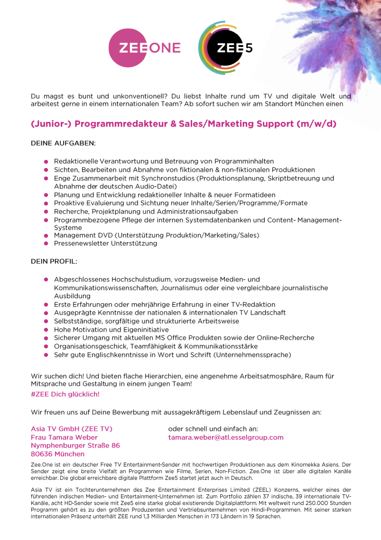 (Junior-) Programmredakteur & Sales/Marketing Support (m/w/d)