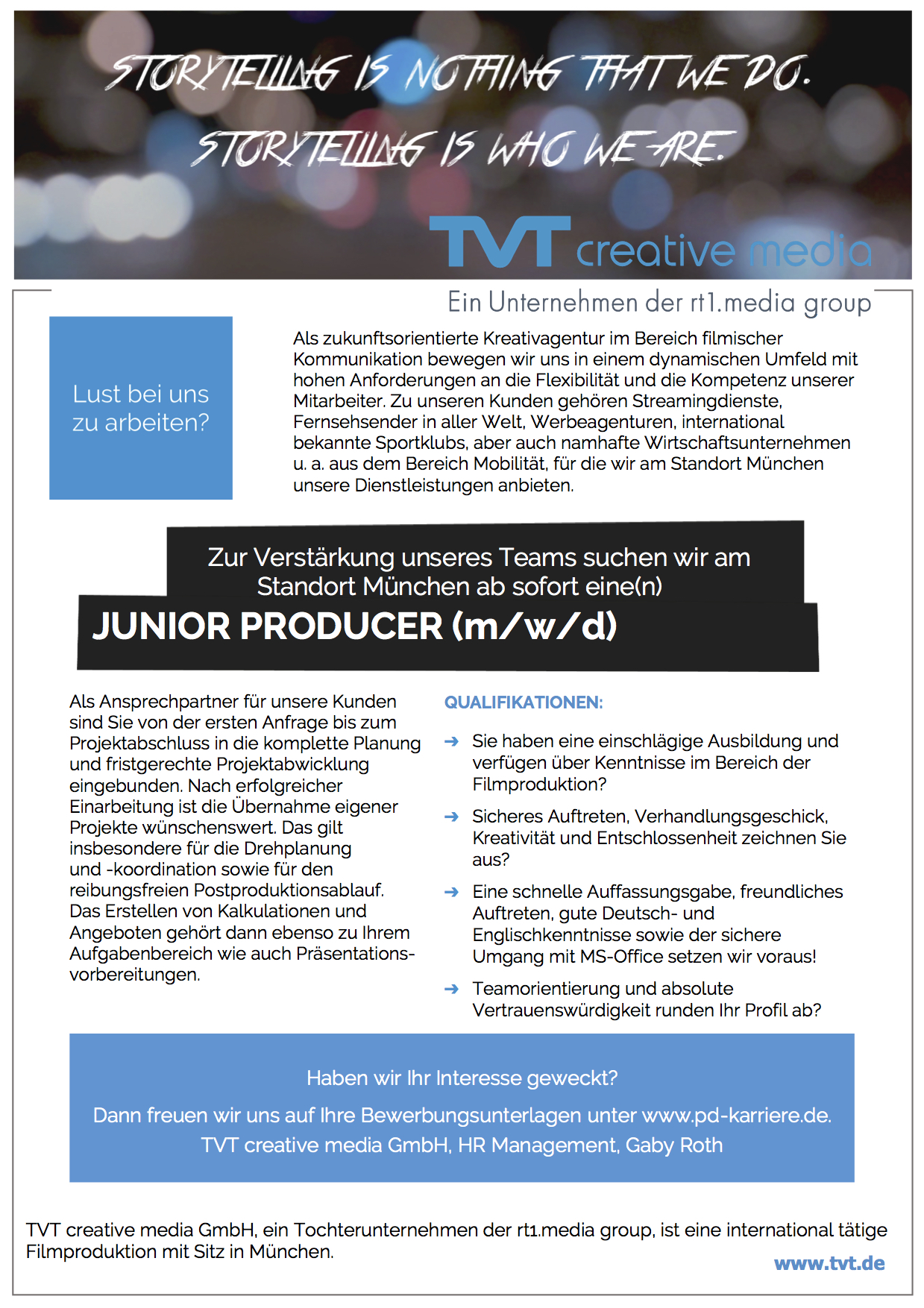 Junior Producer (m/w/d)