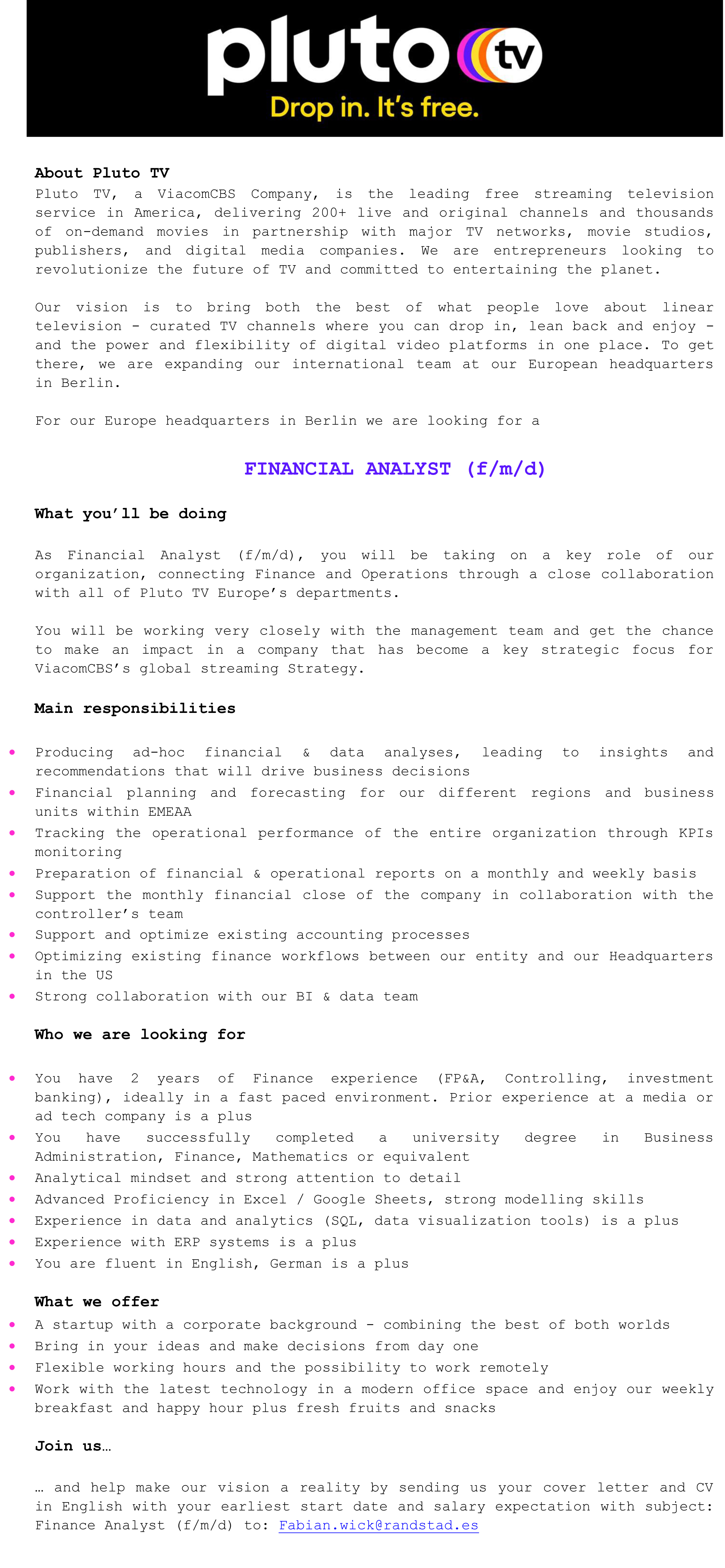 Financial Analyst (f/m/d)