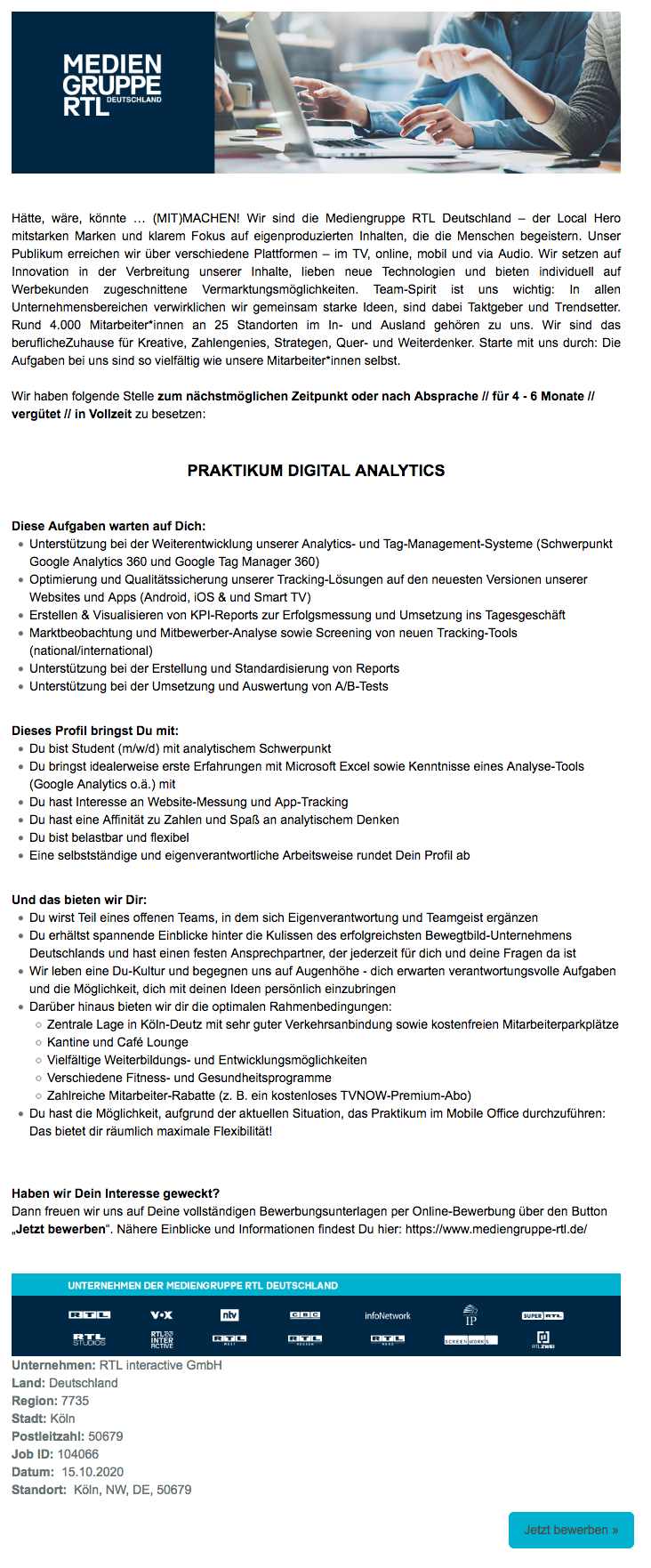 Praktikum Digital Analytics (RTL interactive)