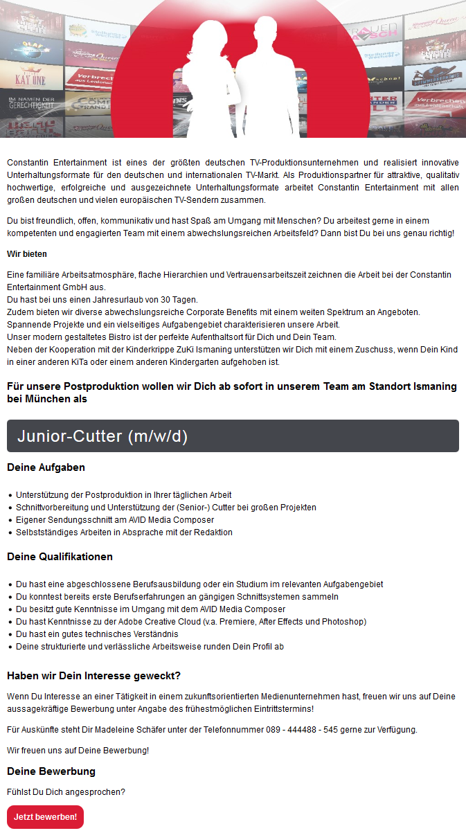 Junior-Cutter (m/w/d)