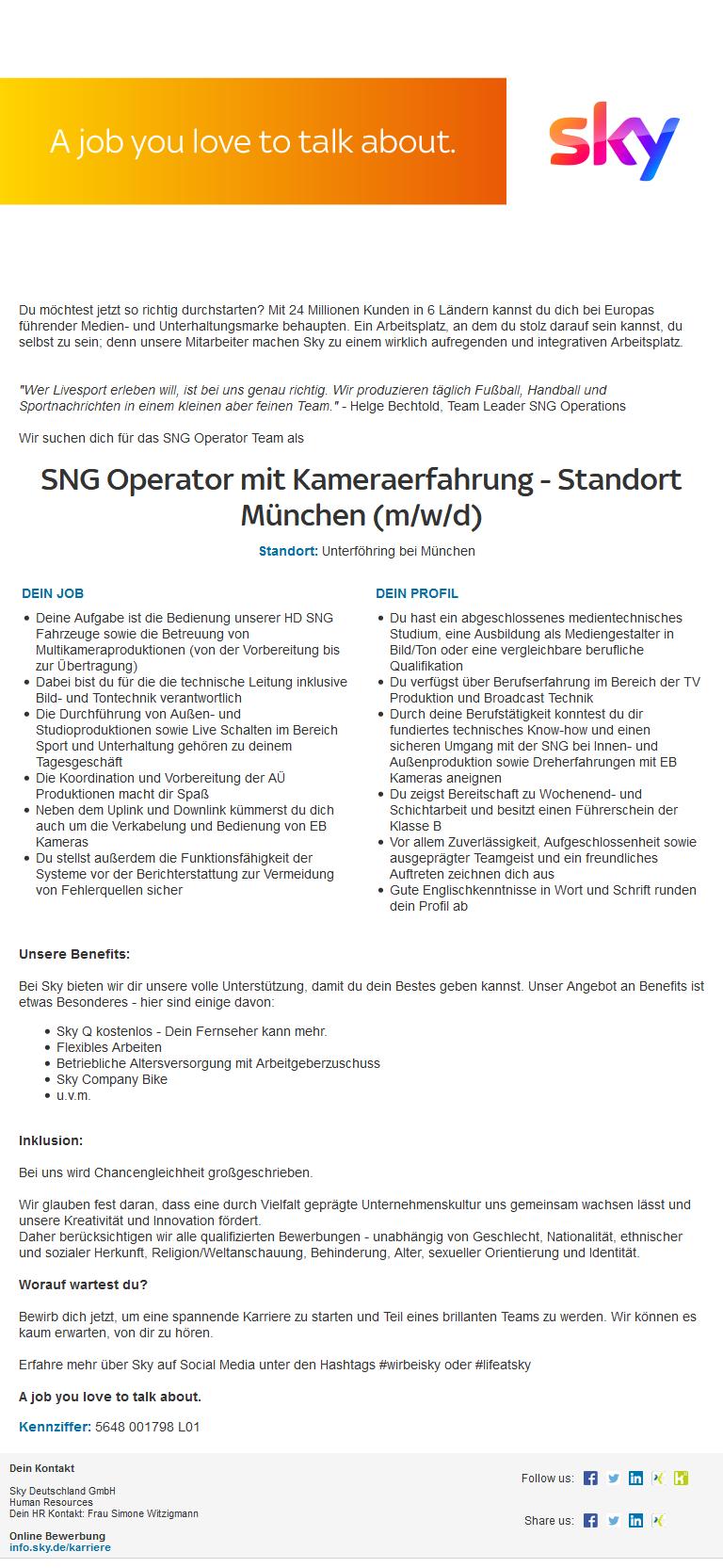 Sky Deutschland Jobs
