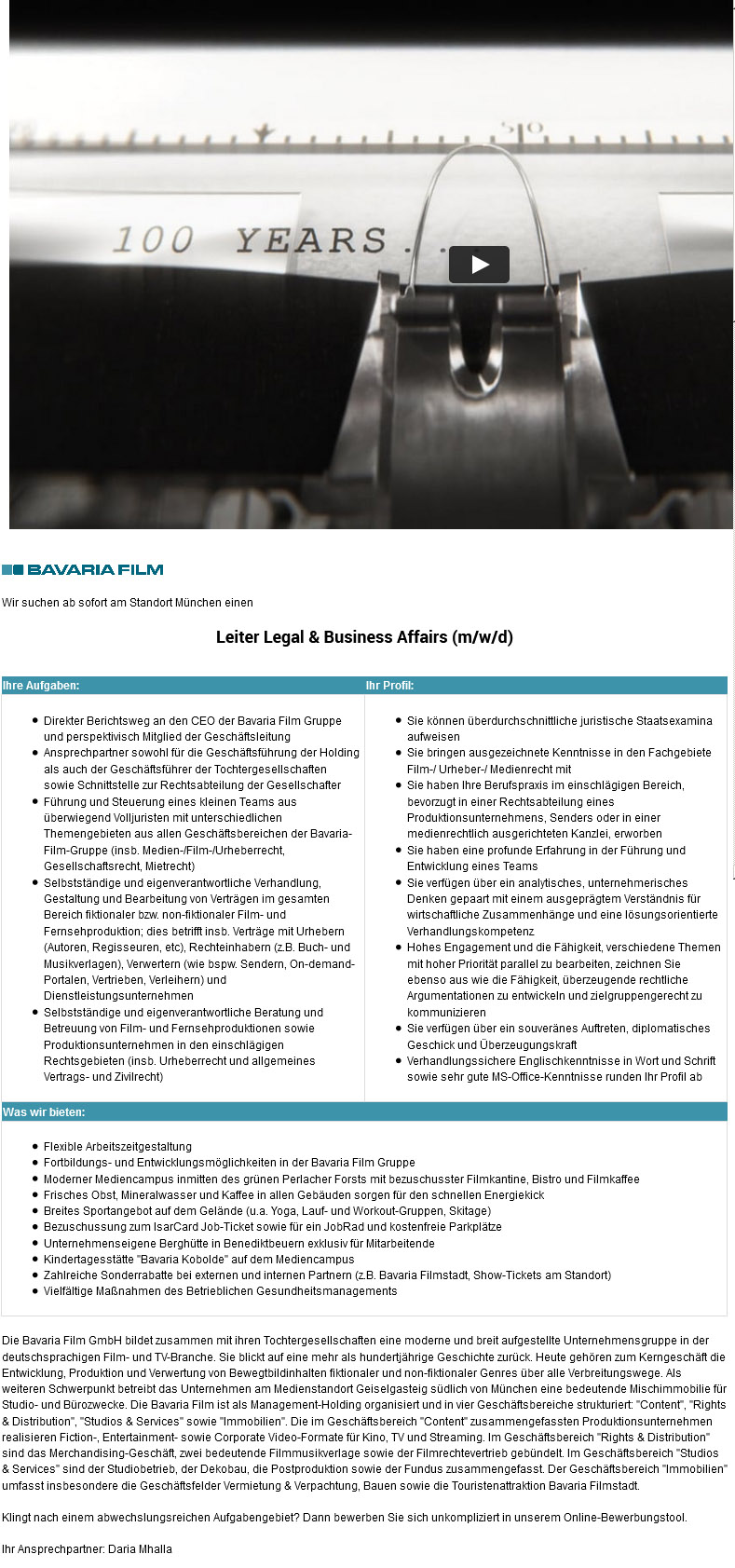 Leiter Legal & Business Affairs (m/w/d)