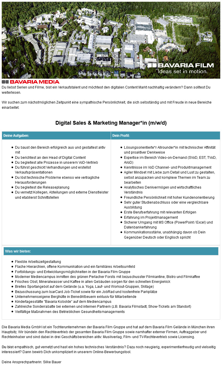 Digital Sales & Marketing Manager*in (m/w/d)